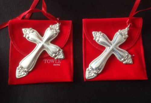 Towle Sterling Silver 1998 Christmas Cross Ornaments