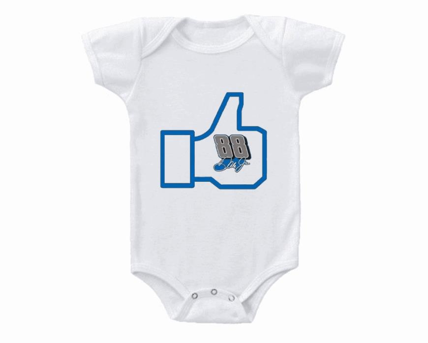 Nascar Dale Earnhardt Jr Thumbs Up Calm Baby Onesie
