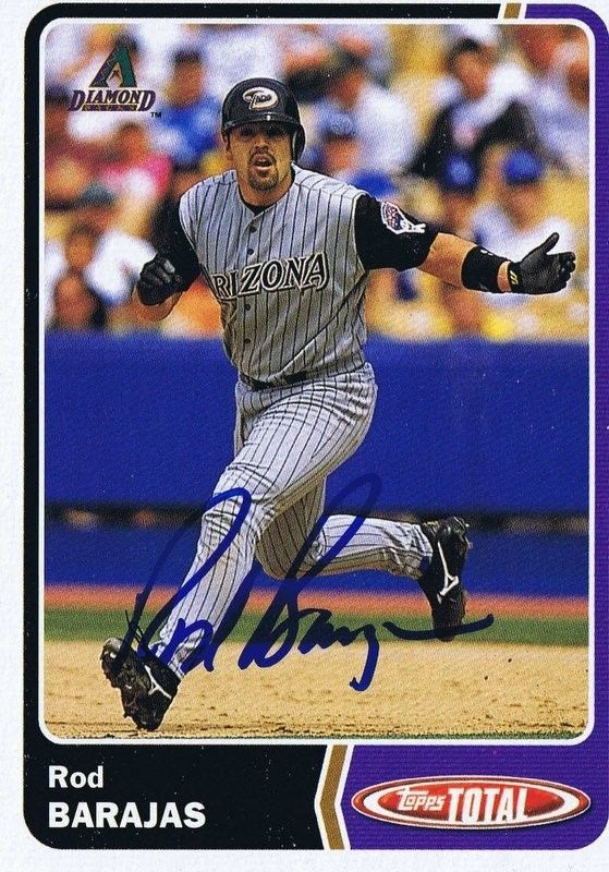 Rod Barajas 2003 Topps Total Autograph #597 Diamondbacks