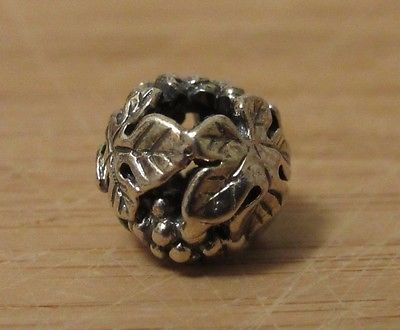 Authentic Trollbead Wine Harvest 11329 Sterling Silver Charm Excellent Condition