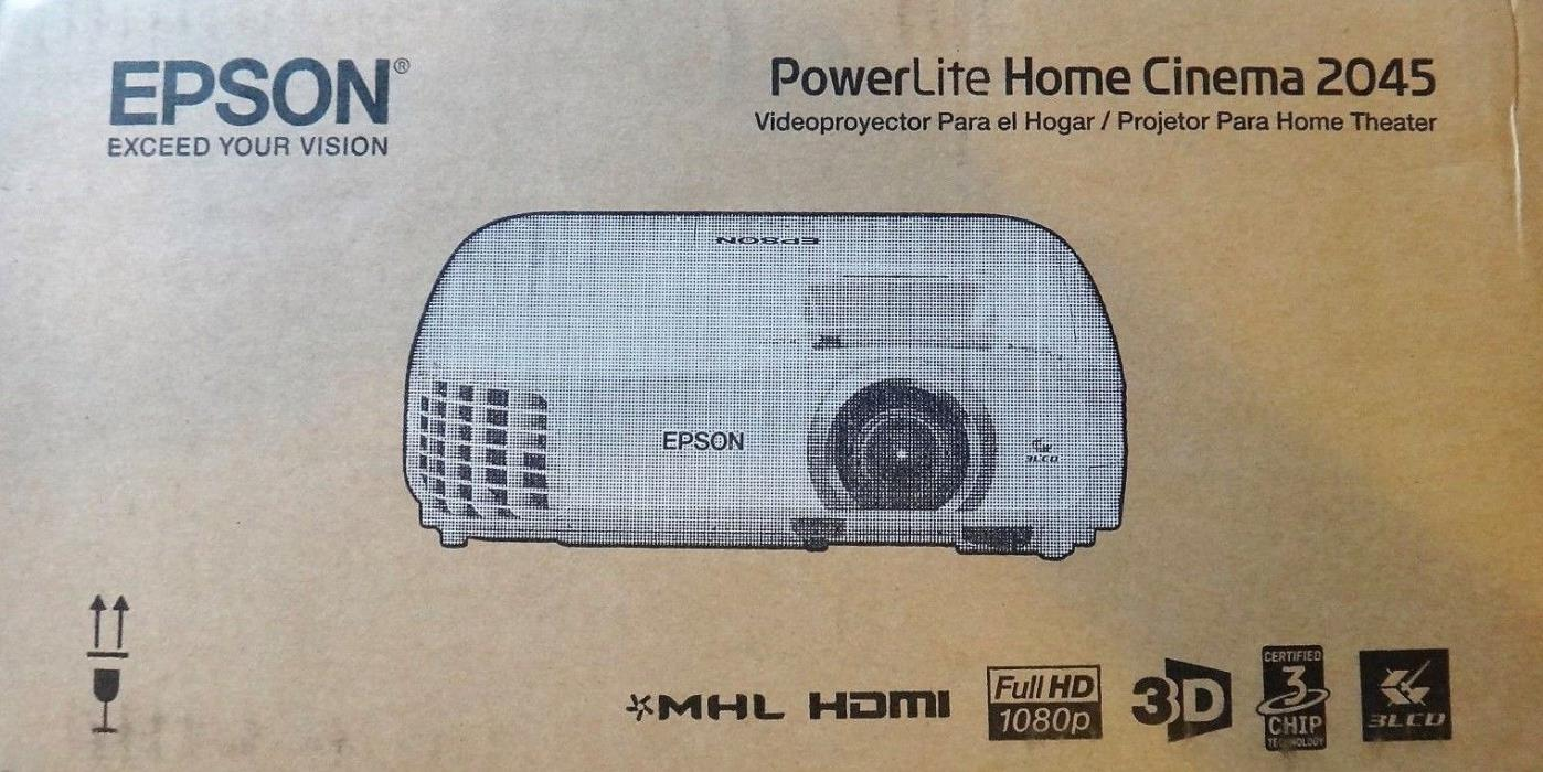 Epson Home Cinema 2045 1080p 3D Miracast 3LCD Home Theater Projector Brand New