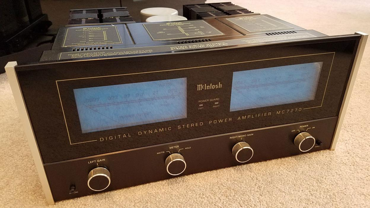 McIntosh MC 7270 Power Amplifier with Paperwork