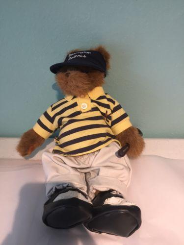 Vintage Bearington Bear Golf Club RARE Teddy Bear W/ Clothes Shoes Plush Stuffed