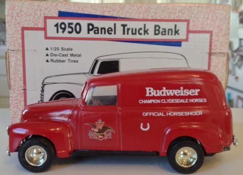 Ertl 1950 Chevy Panel Truck Bank / BUDWEISER / 1:25 Scale