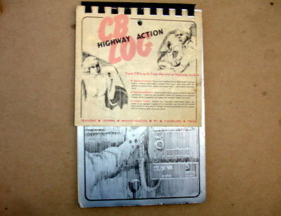 VTG 1977 HIGHWAY ACTION CB LOG BOOK~TRUCKERS-JEEPERS-RV-4 WHEELERS-PRIVATE AUTOS