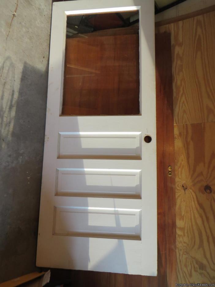 Exterior door one lite 3 panels