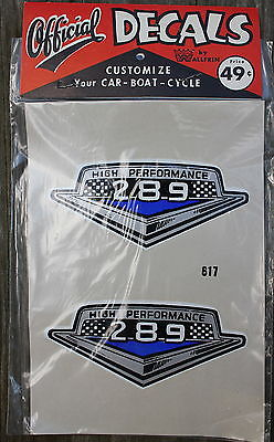 NOS Vintage High Performance 289 #617 Official Decals by Wallfrin Permanent