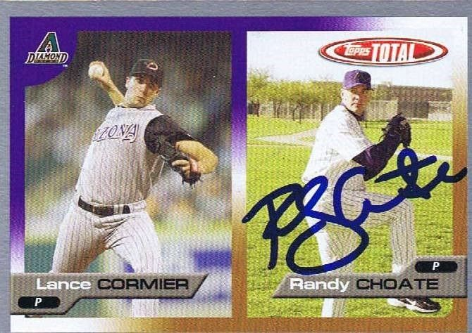 Randy Choate 2005 Topps Total Autograph RC #607 Diamondbacks