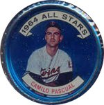 1964 Topps Metal Coins (Baseball) Card# 137 Camillo Pascual of the Minnesota