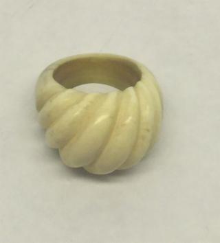 Vintage Carved Ivory Ring
