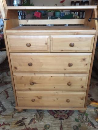 Dresser With Fold Out Changing Table
