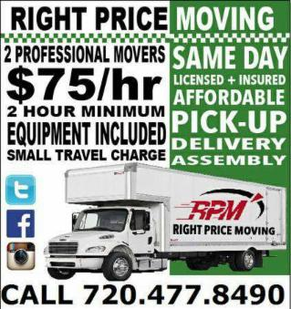 Professional Movers/ Moving + Delivery Services
