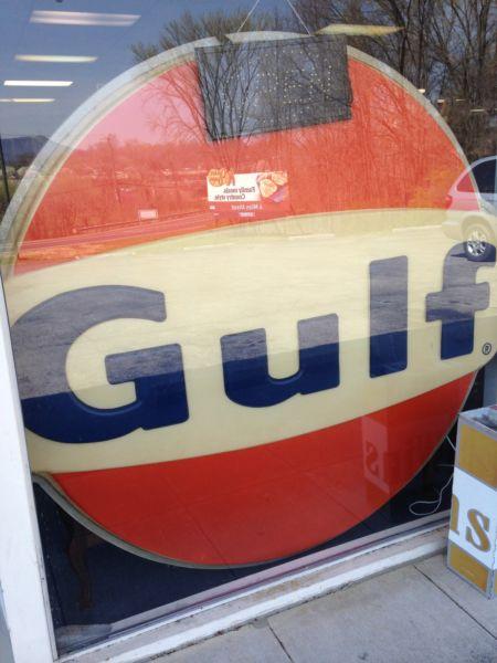 Huge Original Gulf Sign