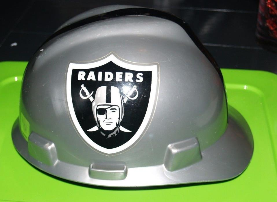 MSA NFL Hard Hat Oakland Raiders, Gray/Black