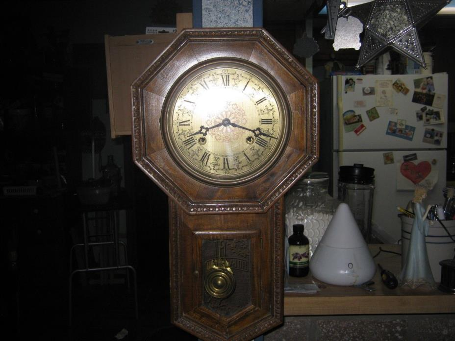 old wall clock  working condition