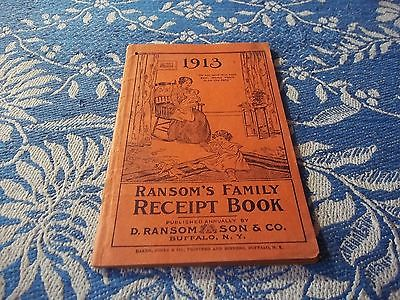 vintage booklet, 1913 Ransom's  family recipe book