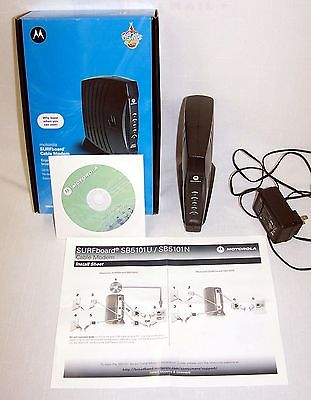 Motorola SB5101U Cable modem with box