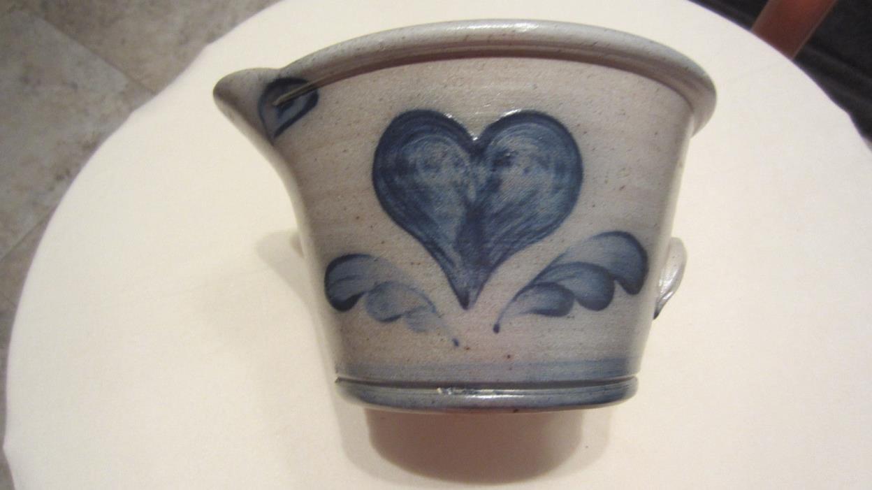 Rowe Pottery Works Handmade Stoneware Batter Bowl 1992