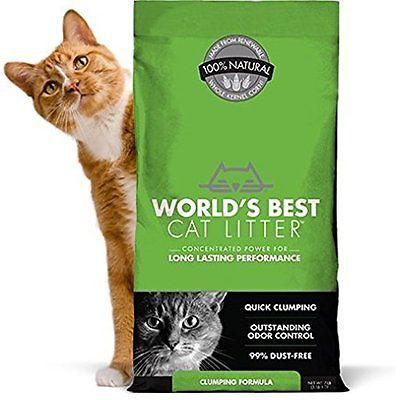 WORLDS Litter BEST CAT LITTER 391032 Clumping Litter Formula 28-Pound NEW
