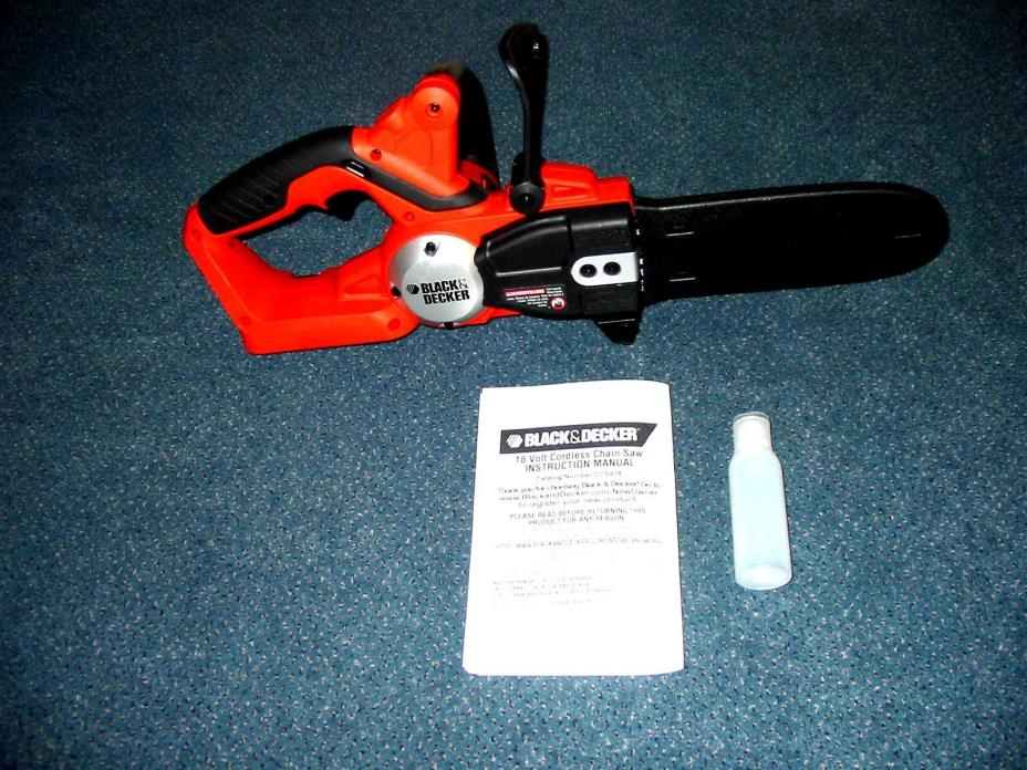 NEW Black Decker CCS818 Chainsaw 18 V olt NO BATTERY Uses HPB18 OPE & #244760-00