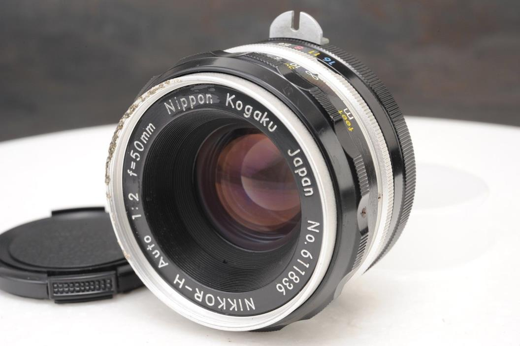 :Nikon Nikkor-H Auto 50mm F2 Non Ai Prime Lens Nippon Kogaku
