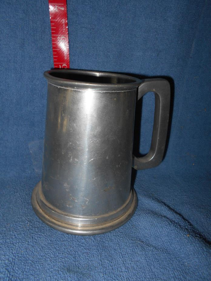 Antique/Vintage Metal Dishes:  Pewter Stein  English