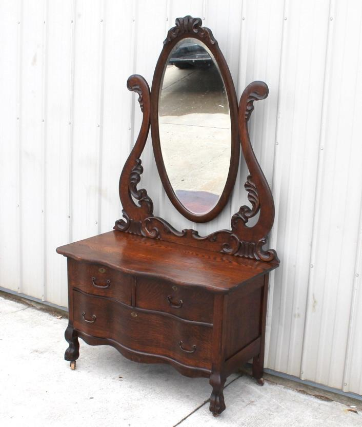 Oak Serpentine Dresser For Sale Classifieds