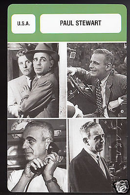 PAUL STEWART Hollywood Actor Movies Film FRENCH BIOGRAPHY CINEMA PHOTO CARD