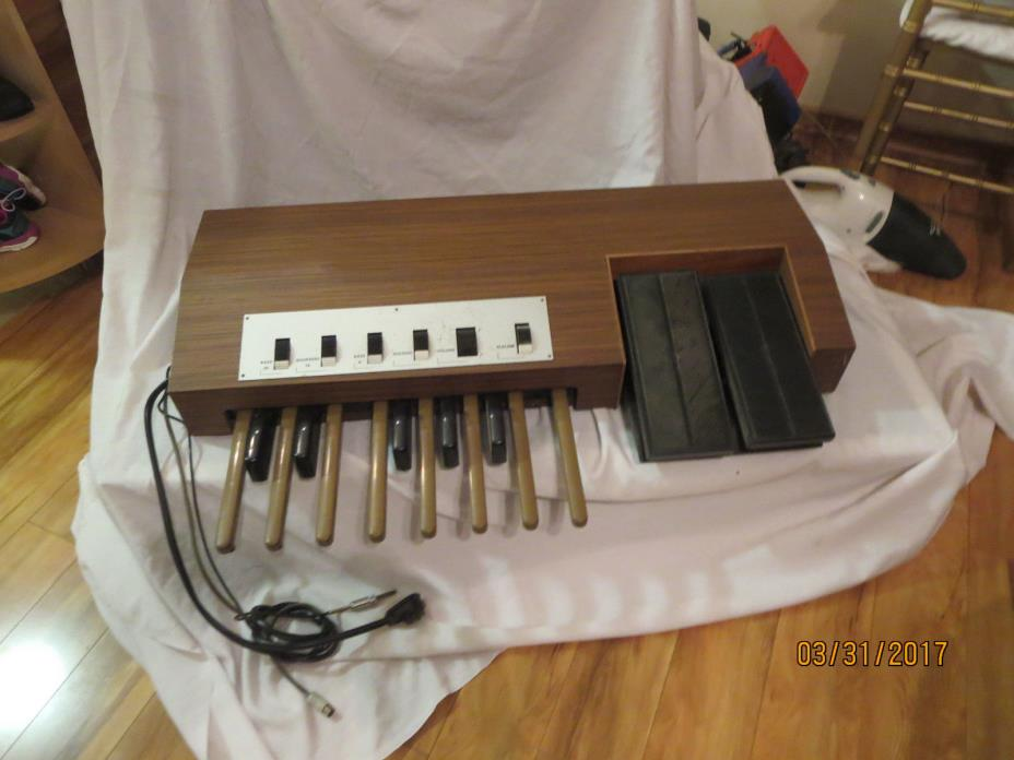Vintage Farfisa Bass Organ Keyboard Pedal Set Professional Duo untested Slalom