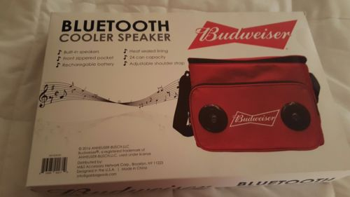MINT!! NEW!! Budweizer with COOLER / SPEAKERS BLUETOOTH Beer Sign!!