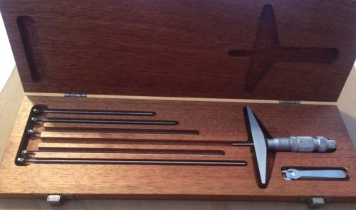 0-9 Brown & Sharpe Depth Micrometer Set