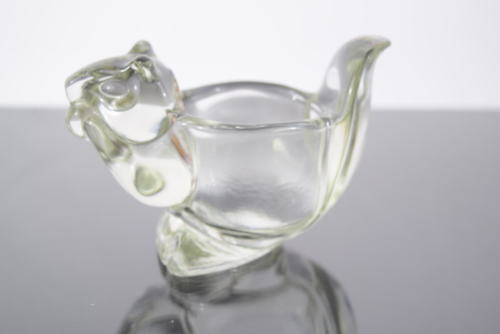Avon Clear Glass Squirrel Votive Candle Holder