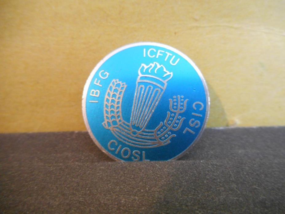 International Confederation of Free Trade Unions Lapel Pin