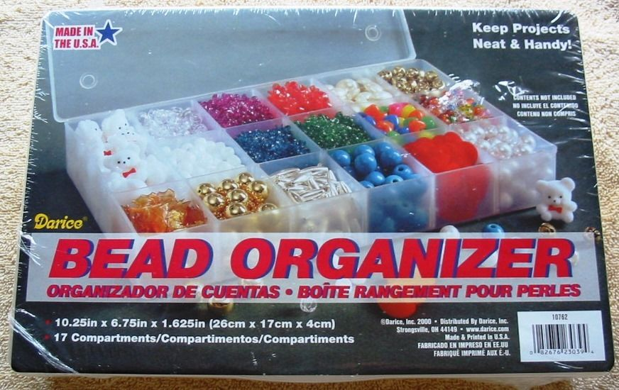Clear Plastic Bead Craft Organizer with 17 Compartments NEW
