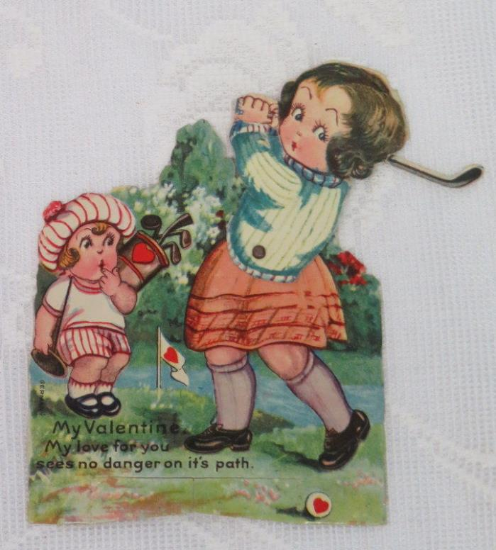 Mechanical Vintage Valentine, Golfer