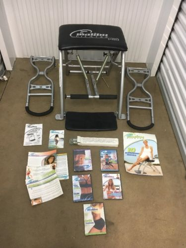MALIBU Pilates PRO CHAIR +SCULPTING HANDLES Excercise Workout Abs Bench NICE!!!