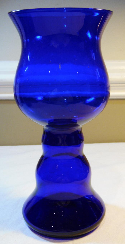 Cobalt Blue Large Goblet Style Decorative Vase