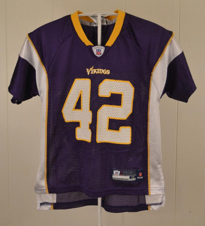 Reebok Minnesota Vikings #42 Darren Sharper NFL Jersey Kids Medium (5-6) Purple