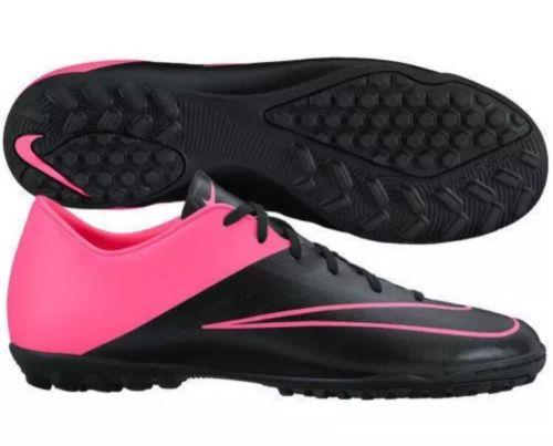 New Men Nike Mercurial Victory V TF Soccer Shoes Sz 8 Black Pink 651646-006