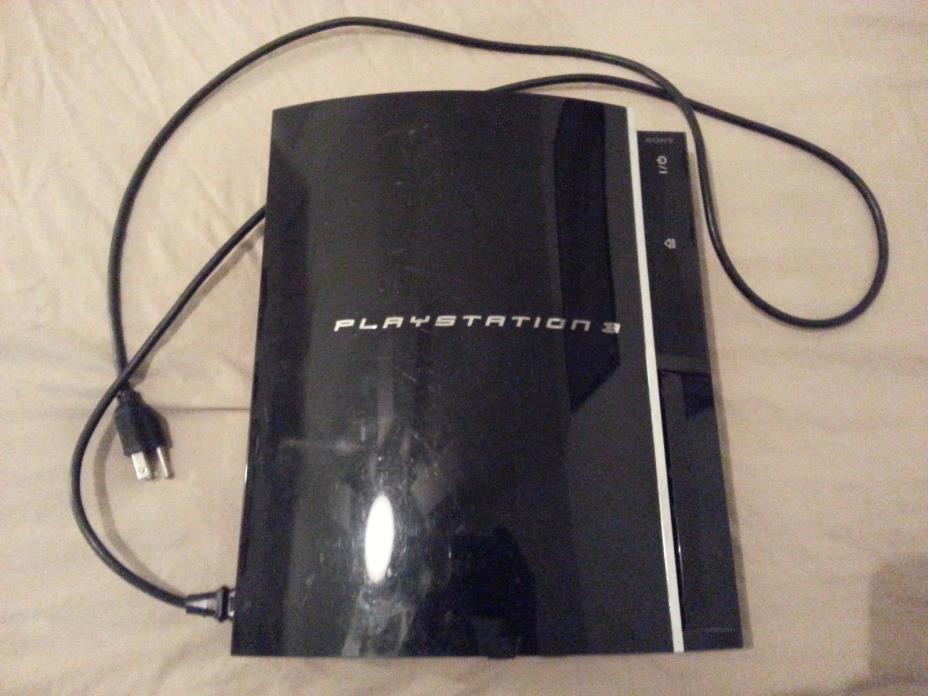 Sony Playstation 3 Console PS3 Black Broken As Is For Parts Sold As Is