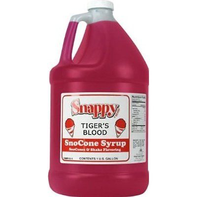 Snappy Snow Cone Flavoring Syrup Syrup - Tigers Blood - 1 Gallon