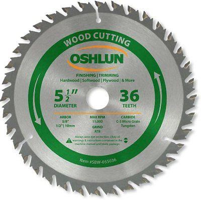Oshlun SBW-055036 5-12-Inch Circular Saw Blades 36 Tooth ATB Finishing and Saw