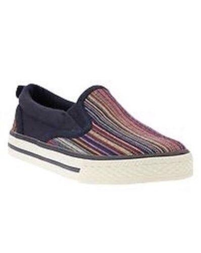 GAP Baby Toddler Boy NWT Size US 8 / EUR 25 Striped / Blue Textile Slip On Shoes