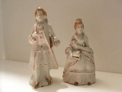 Vintage Revolutionary Era Man and Woman Salt & Pepper Shakers JAPAN 4