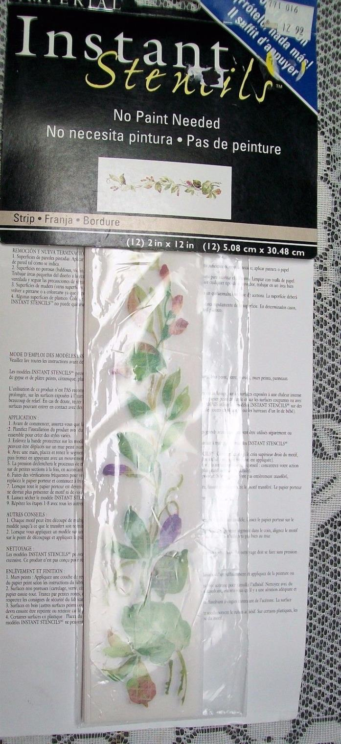 Imperial Instant Stencils, No paint needed border strip Rub on Transfer vine