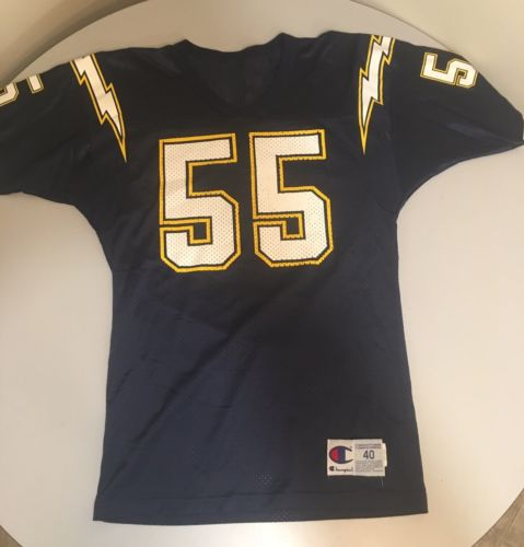 VTG 90`s JUNIOR SEAU SAN DIEGO CHARGERS NFL Jersey Champion Mens Size 40