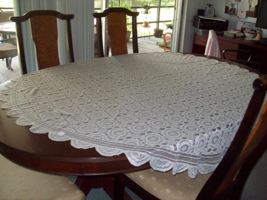 Lace Tablecloth White  ~  60