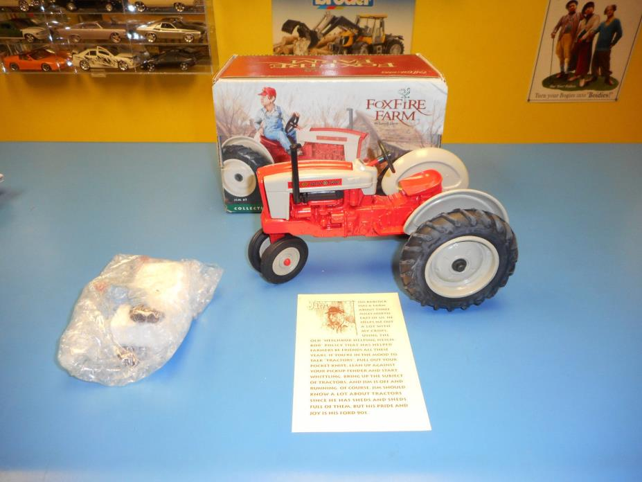 ERTL FOXFIRE FARM COLLECTIBLE FIGURE WITH  DIECAST FORD 901 TRACTOR