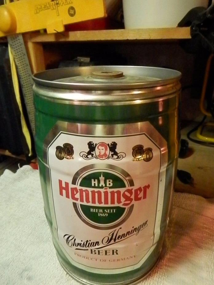 HENNINGER BEER * GERMAN GALLON BEER CAN