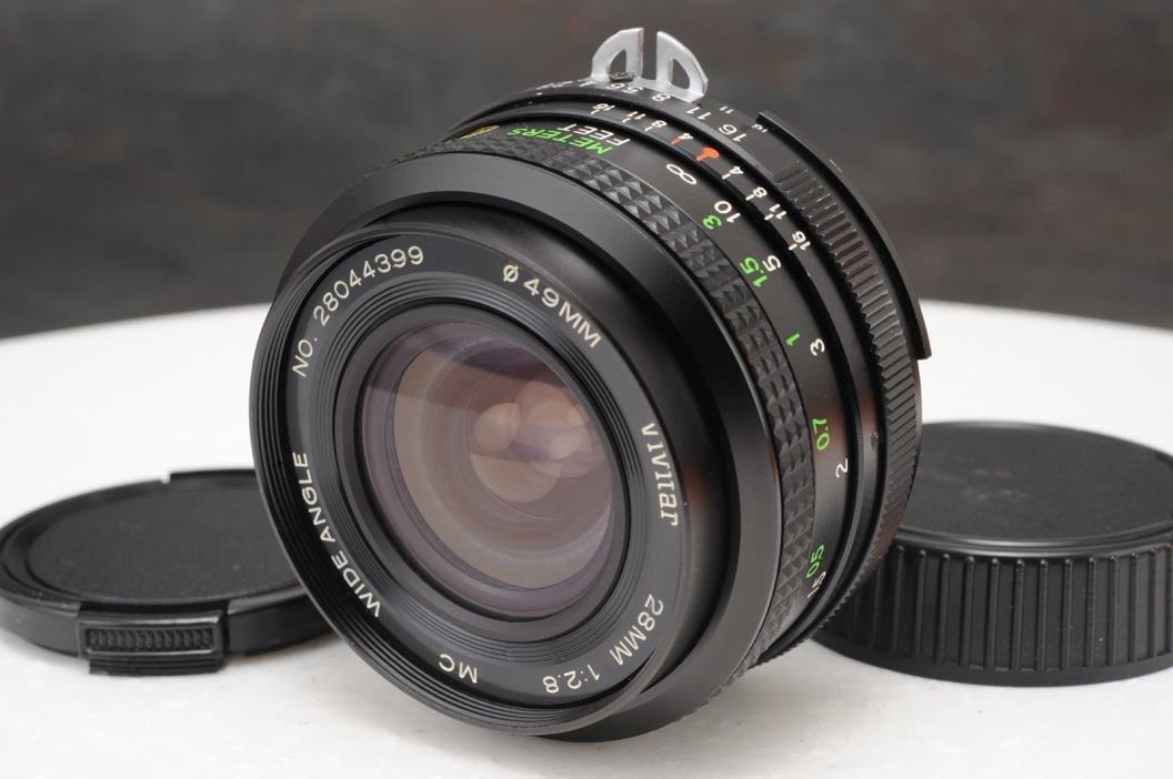 :Vivitar 28mm F2.8 MC Manual Focus Wide Angle Nikon F (Ai) Mount Lens EX+